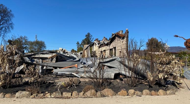 The historic Soda Rock Winery plans to rebuild after suffering serious damage in the October 2019 Kincade fire in Sonoma County.