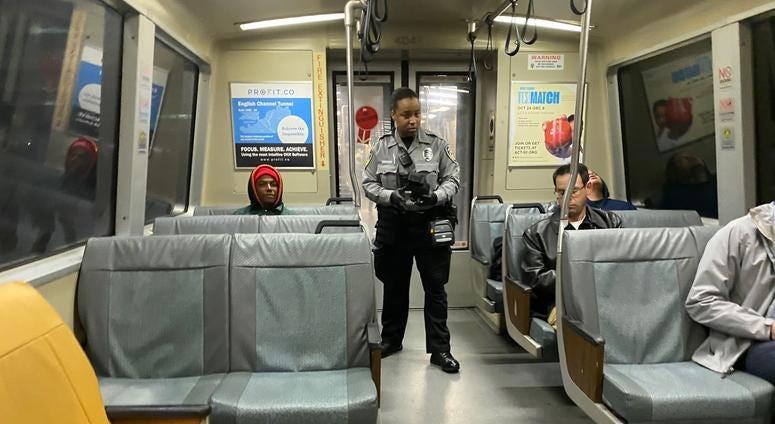 BART fare inspector in San Francisco