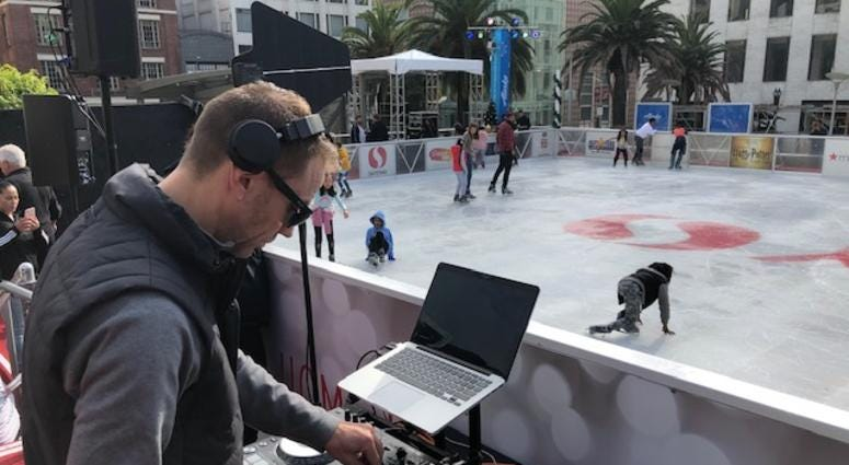 The ice skating rink in Union Square opened on Nov. 5, 2019.