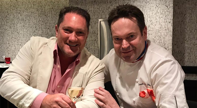 Liam and Chef Claude Le Tohic of ONE65 (Photo credit: Foodie Chap/Liam Mayclem)