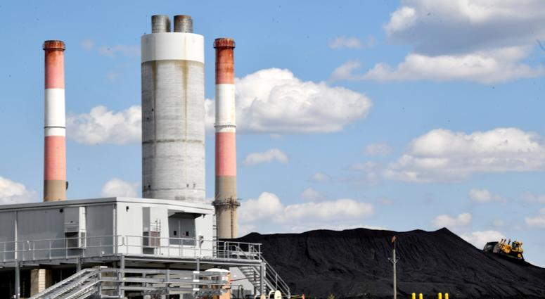 Coal is stacked in a pile at the Tennessee Valley Authority (TVA) Gallatin Steam Plant Thursday, June 13, 2019, in Gallatin, Tenn.
