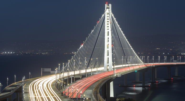 San Francisco-Oakland Bay Bridge  Eastern Span At Night