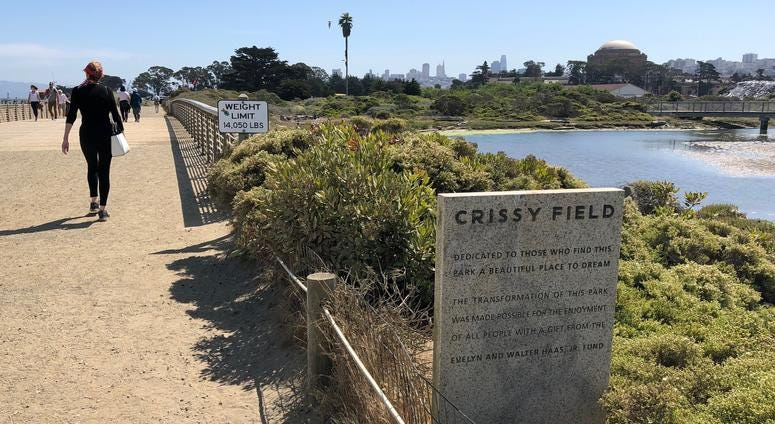 Mason Street at San Francisco's Crissy Field closes for six months to allow for new marshland