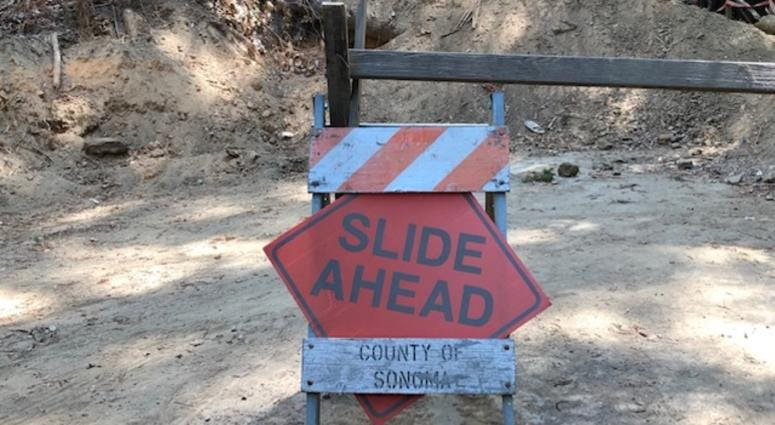 Road closed months after mudslides in Guerneville