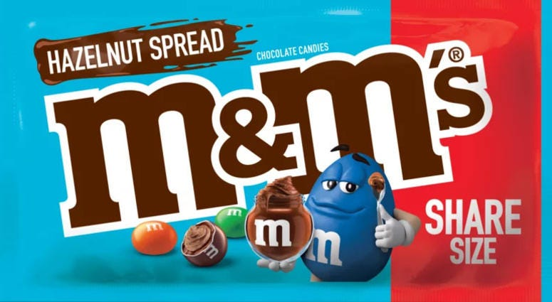 M&M'S Hazelnut Spread Chocolate Candies