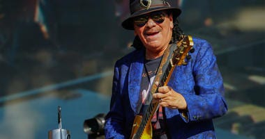 Carlos Santana of Santana performing live on the Great Oak stage at the 2018 British Summer Time Festival in Hyde Park in London. Photo date: Sunday, July 8, 2018. Photo credit should read: Richard Gray/EMPICS