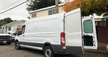 Oakland police announced Dec. 9, 2019 that they'd found a stolen van carrying 27 dogs.