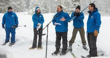 California Department of Water Resources Snowpack January 2020