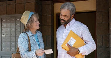 """This image released by Netflix shows Meryl Streep, left, and Jeffrey Wright in a scene from """"The Laundromat."""" Netflix has released """"The Laundromat,"""" a movie based on the so-called Panama Papers, despite an attempt by two lawyers to stop its release."""