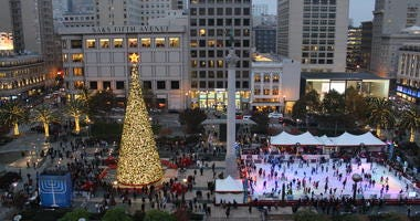 Christmastime in Union Square, San Francisco