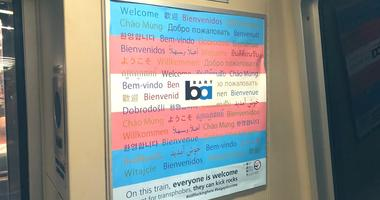 Unapproved posters demanding tolerance for trans people have begun appearing on BART trains.