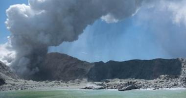 The eruption of a volcano on New Zealand's White Island on Dec. 9, 2019, as witnessed by Michael Schade of the Bay Area.