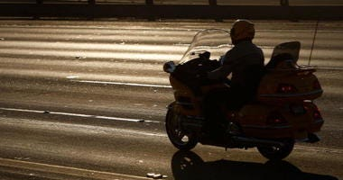 Motorcyclist on California Freeway