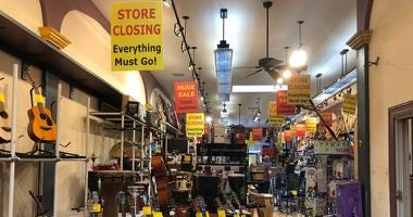 Haight-Ashbury Music Center holds a liquidation sale as its owner, Massoud Badakshan, plans to close its doors on Monday after 40 years in business.