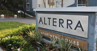 Authorities on Jan. 2, 2020 are investigating if a fire at the Alterra apartments was caused by a Molotov cocktail.
