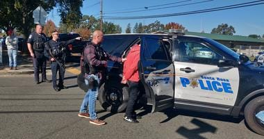 Police apprehended a suspect they say shot a teenager at Ridgeway High School in Santa Rosa on Oct. 23, 2019.