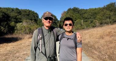 Steve left) and Gordon met through the Mon Ami program and hiked in Tilden Regional Park.