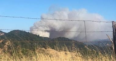 Moose Fire Burns In Mendocino County