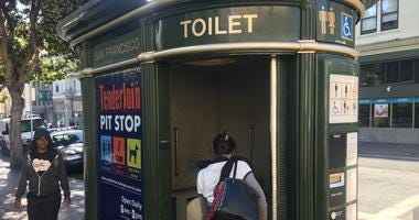 Public Pit Stop toilet in San Francisco's Tenderloin neighborhood