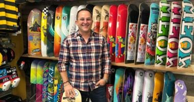 Nic Taylor owns Up the Creek skateboard shop in Walnut Creek.