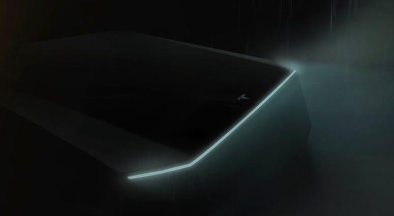 Teaser image for Tesla's upcoming Cybertruck pickup