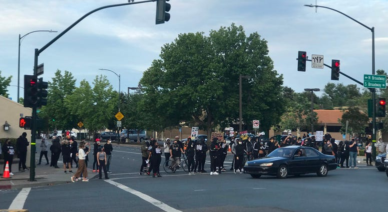 George Floyd protests continue in Walnut Creek on May 31, 2020, just hours before enacted curfew