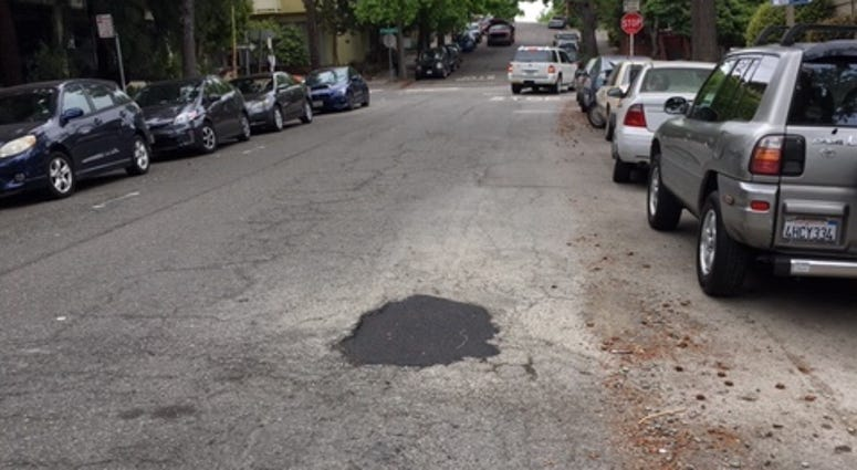 "Two so-called ""pothole vigilantes"" are soliciting donations to fix broken streets in Oakland."