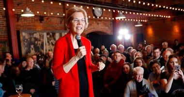 2020 Democratic presidential candidate Sen. Elizabeth Warren speaks to residents during an organizing event in Dubuque, Iowa.