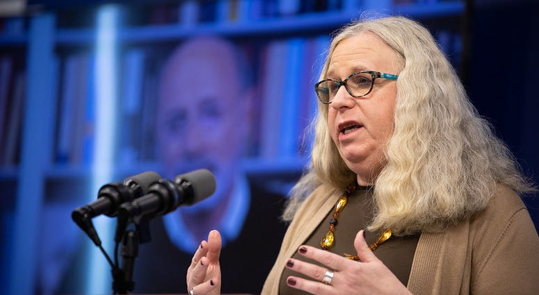 Pennsylvania Secretary of Health Dr. Rachel Levine speaking at the virtual press conference.