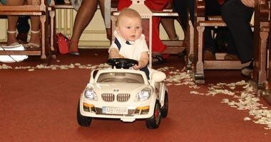 6-Month-Old Ring Bearer Cruises Down the Aisle In Remote-Controlled Toy Car