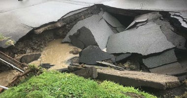Sinkhole from a different incident on McKnight Road