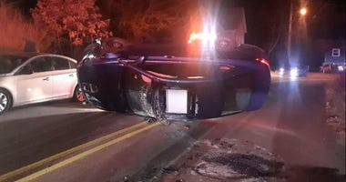 rollover car accident in Avalon