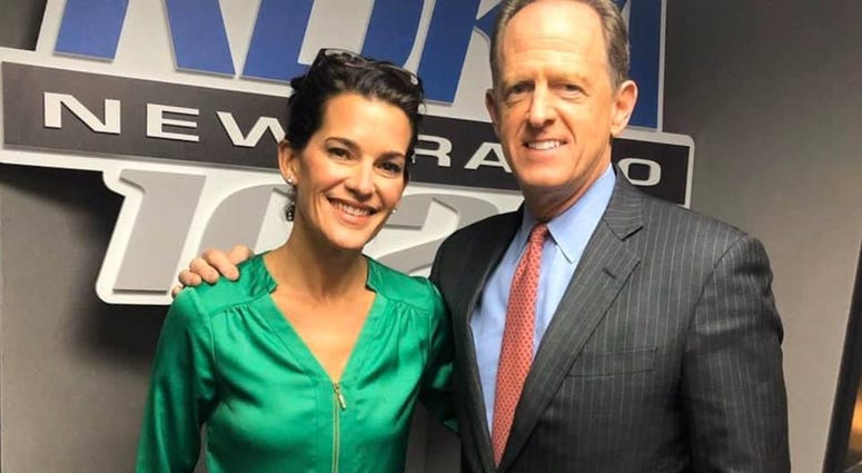 Senator Pat Toomey and Wendy Bell in KDKA Radio studio