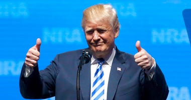 Trump speaks to NRA
