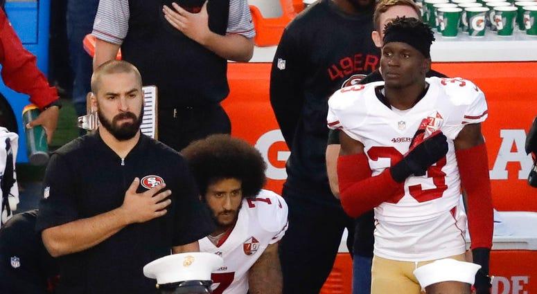 Colin Kaepernick Flag Protest