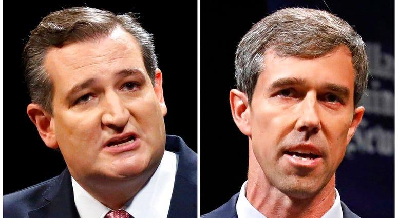 Republican U.S. Sen. Ted Cruz, left, and Democratic U.S. Rep. Beto O'Rourke,