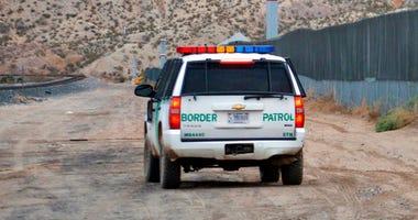 U.S. Border Patrol agent patrols Sunland Park along the U.S.-Mexico border