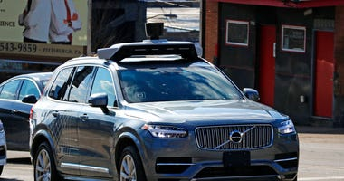 Uber self-driving Volvo in Pittsburgh