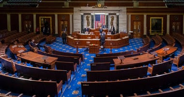 Tuesday, Jan. 3, 2017, the House Chamber is seen at the close of business of the 114th Congress, at the Capitol in Washington