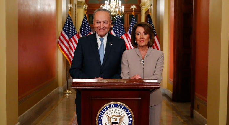 House Speaker Nancy Pelosi of Calif., and Senate Minority Leader Chuck Schumer
