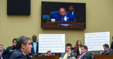 Michael Cohen, President Donald Trump's former lawyer, testifies before the House Oversight and Reform Committee, on Capitol Hill, Wednesday, Feb. 27, 2019, in Washington