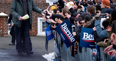 Sen. Bernie Sanders, I-Vt., greets supporters as arrives to kick off his second presidential campaign Saturday, March 2, 2019, in the Brooklyn borough of New York.
