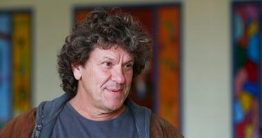 Michael Lang speaks during a tour at the former Zena Elementary School in Woodstock, N.Y.