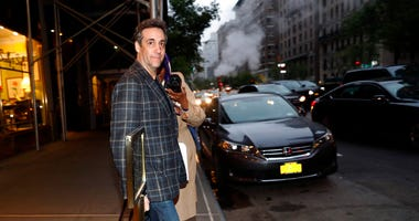 Michael Cohen, Donald Trump's former personal attorney, leaves his apartment, Friday, May 3, 2019, in New York. Cohen is scheduled to report Monday to a federal prison 70 miles north of New York City to begin serving a 3-year sentence for campaign-finance
