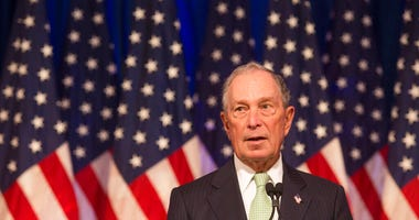 Democratic Presidential candidate, Michael Bloomberg during remarks to the media at the Hilton Hotel on his first campaign stop in Norfolk, Va. Monday, Nov. 25, 2019.