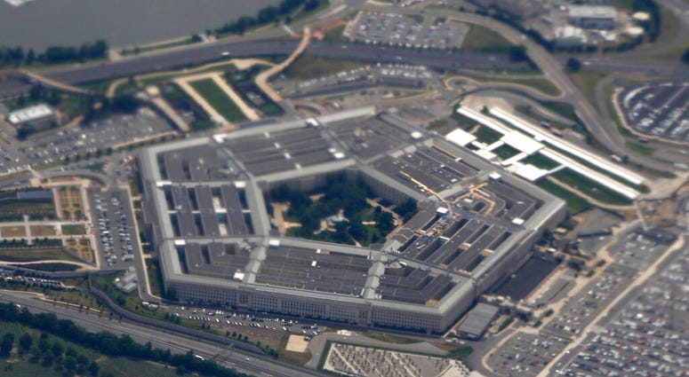 the Pentagon is seen from air from Air Force One.