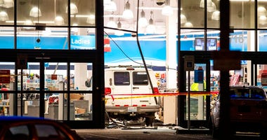 A van crashed into a Ross store in Burien injuring multiple people on Monday, Dec. 16, 2019.