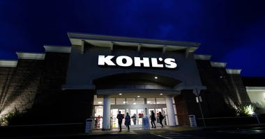 FILE - In this Nov. 29, 2019, file photo customers walk outside of a Kohl's store in Colma, Calif. Mall-based retailers J.C. Penney, Kohl's and Victoria's Secret parent reported sales declines for the holiday season,