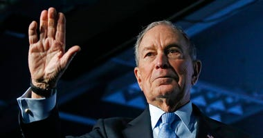 Democratic presidential candidate and former New York City Mayor Mike Bloomberg waves after speaking at a campaign event, Thursday, Feb. 20, 2020, in Salt Lake City.