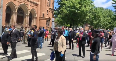 Clergy Protest the death of George Floyd